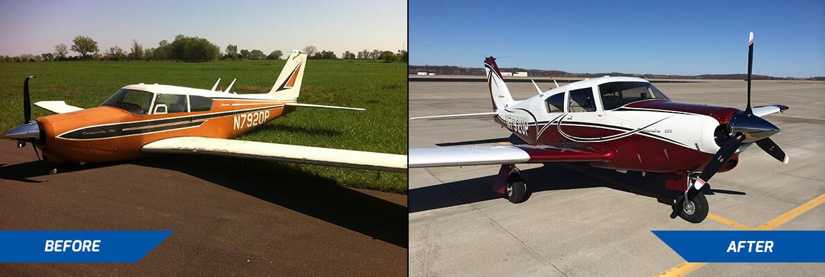 piper comanche airplane repair