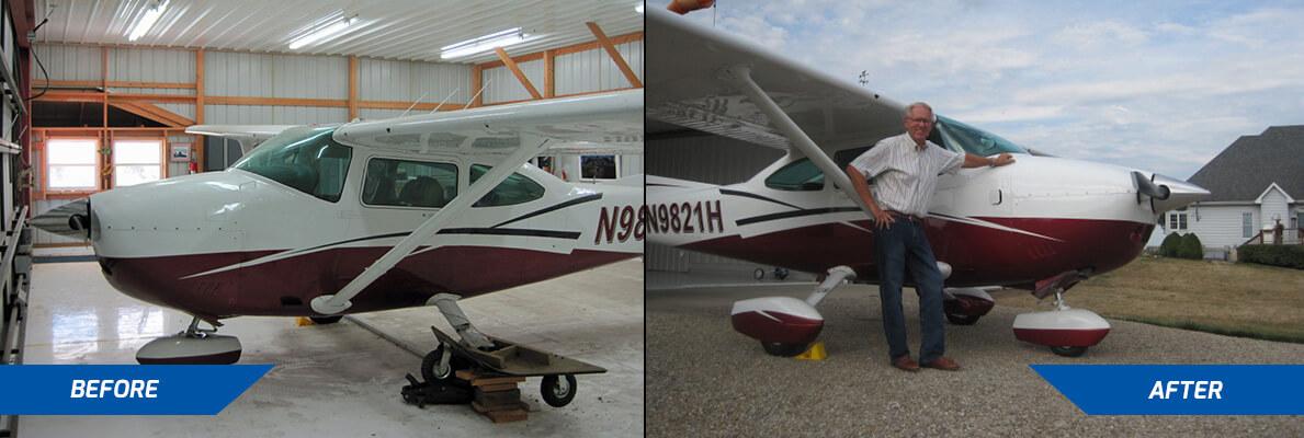cessna 182 landing gear repair